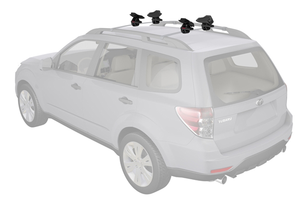 yakima sweetroll roller kayak rack installed