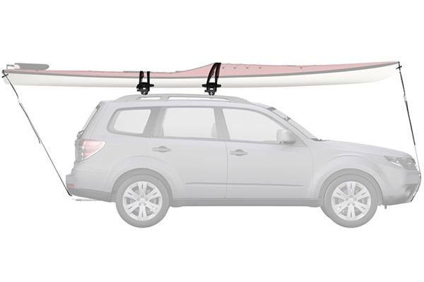 yakima sweetroll roller kayak rack side profile