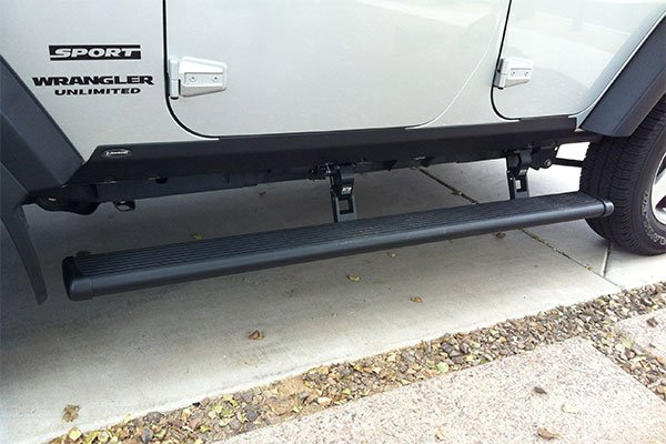 amp powerstep running boards installed on 2012 jeep wrangler