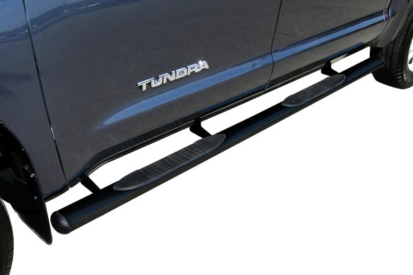 4in premium straight oval nerf bars tundra installed