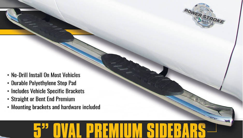 5 inch premium oval nerf bar related 1