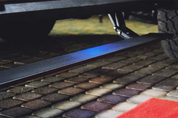 amp research powerstep extreme running boards installed