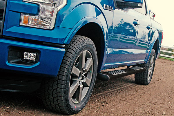 dee zee 6 black tread side steps f150 lifestyle