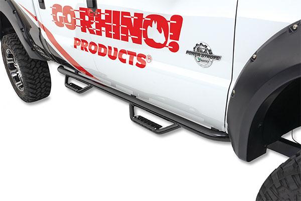 go rhino dominator d2 sidesteps black installed on ford f250 diesel