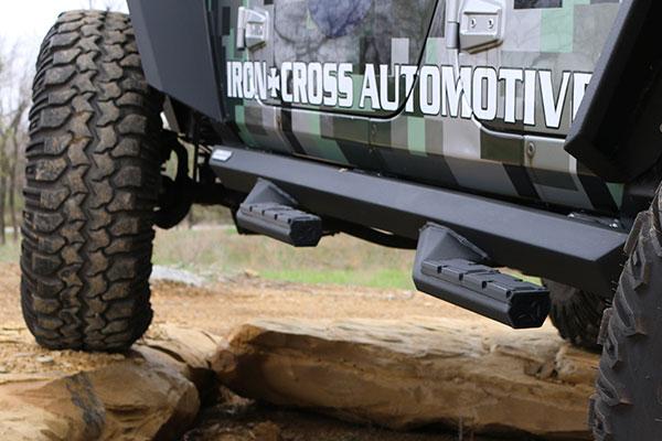 iron-cross-side-arm-step-bars-rear-detail