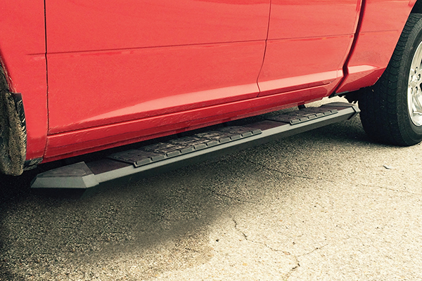 iron cross patriot running boards black installed