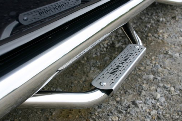 iron cross plus step bars polished step detail