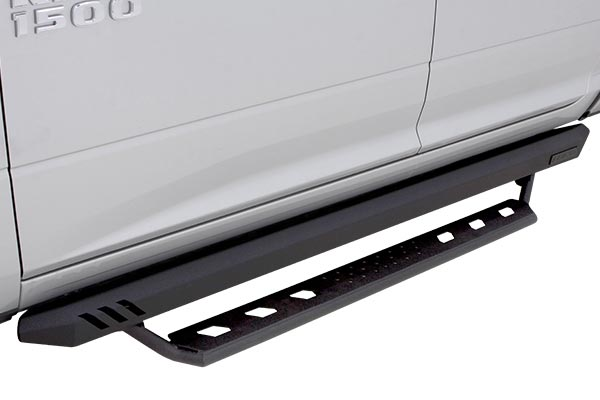 lund rock rails with long step bars ram installed