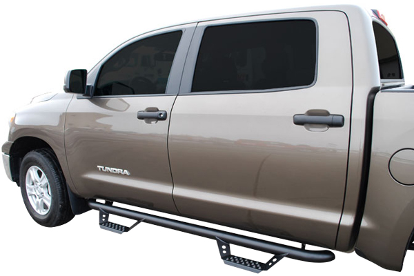 luverne baja step 3 round nerf bars tundra installed
