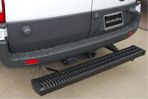 luverne grip step rear step on vehicle