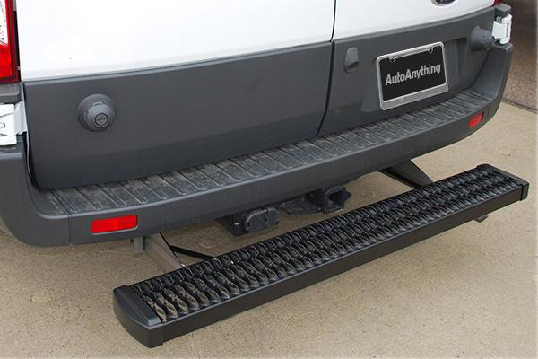 luverne grip step rear step on vehicle