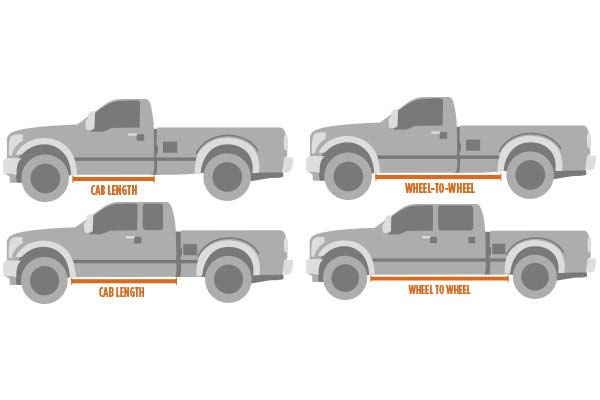 cab length vs wheel to wheel nerf bar lengths
