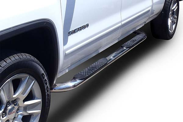 westin-4in-platinum-oval-nerf-bars-polished-installed