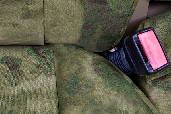 a tacs camo canvas seat covers by coverking detail