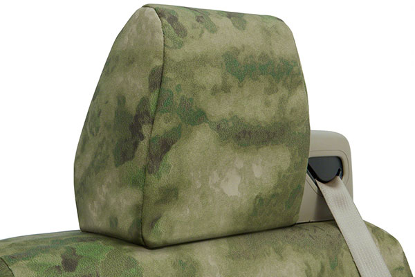 a tacs camo canvas seat covers by coverking headrest
