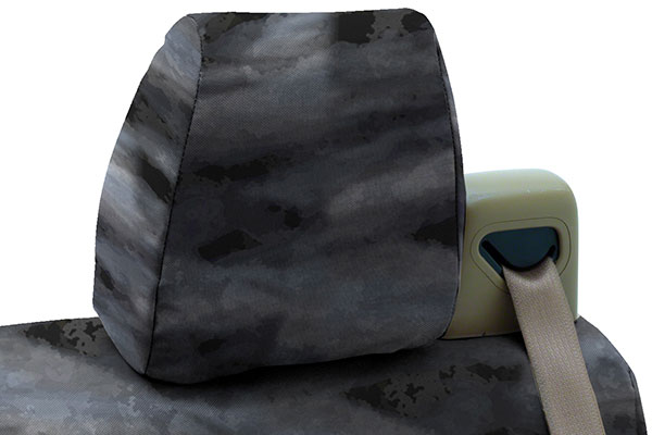 a tacs tactical camo canvas seat covers by coverking headrest