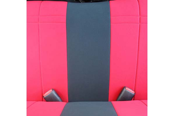CalTrend Neosupreme Seat Covers Red with Black Trim