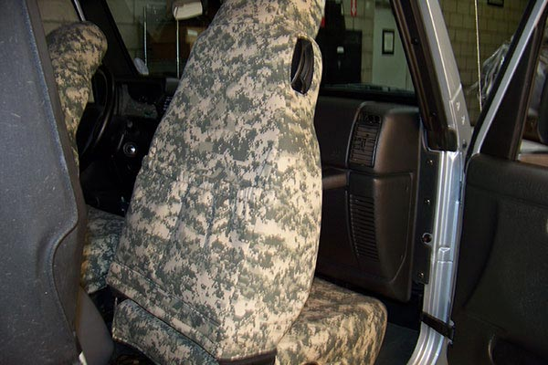 caltrend digital camouflage seat back