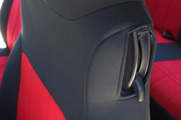 caltrend neosupreme seat covers custom fit red with black trim