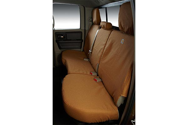 carhartt duck weave seat covers rear seat brown