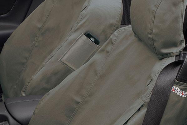 covercraft seatsaver hp canvas seat covers pocket