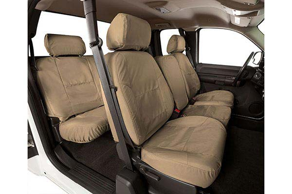 Cover every inch of your vehicle's upholstry with custom-fit Coverking Ballistic Seat Covers