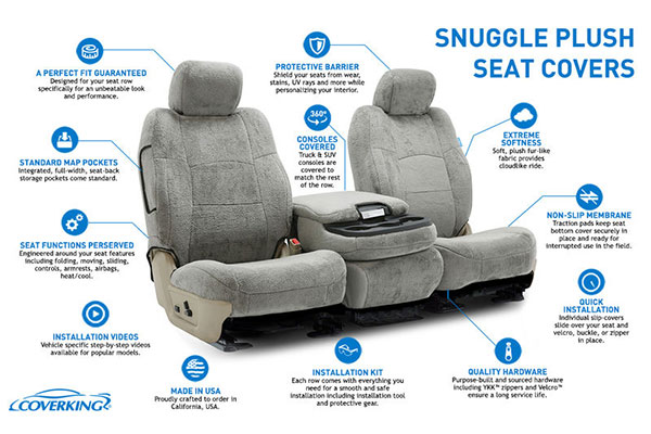 Schematics Of A Car Seat : Coverking snuggleplush custom seat covers free shipping