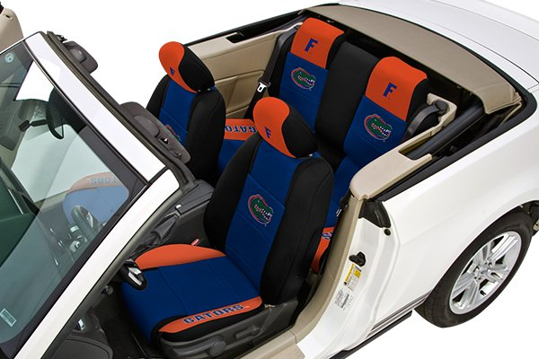coverking collegiate neosupreme seat covers installed in vehicle