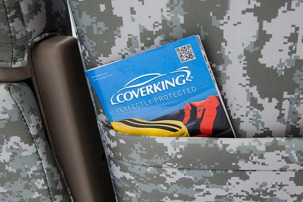 coverking digital camo neo supreme seat cover map pocket