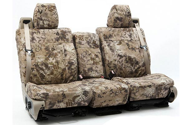 coverking kryptek camo tactical ballistic seat covers forward view