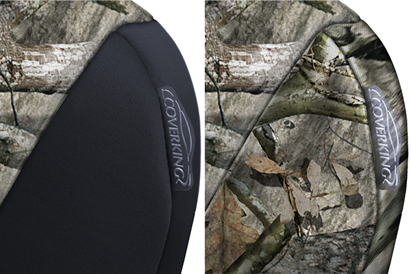 coverking mossy oak camo neosupreme seat covers camo detail
