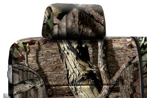 coverking mossy oak camo neosupreme seat covers headrest detail