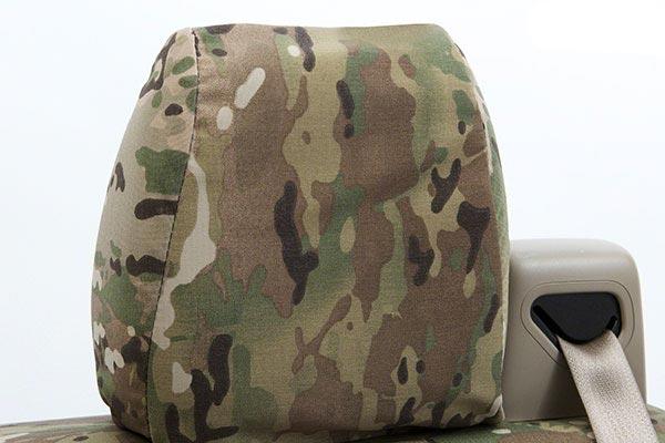 coverking multicam camo ballistic seat covers headrest