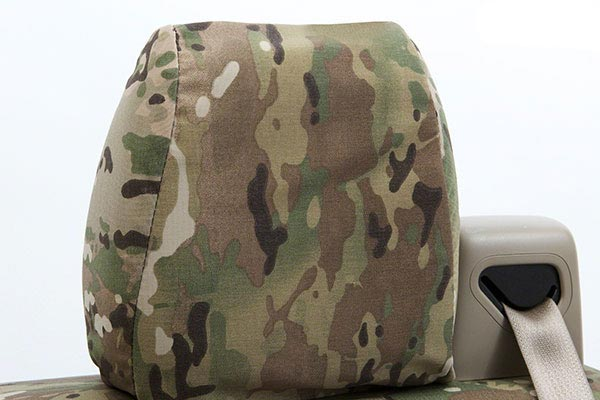 coverking multicam camo tactical ballistic seat covers headrest 1