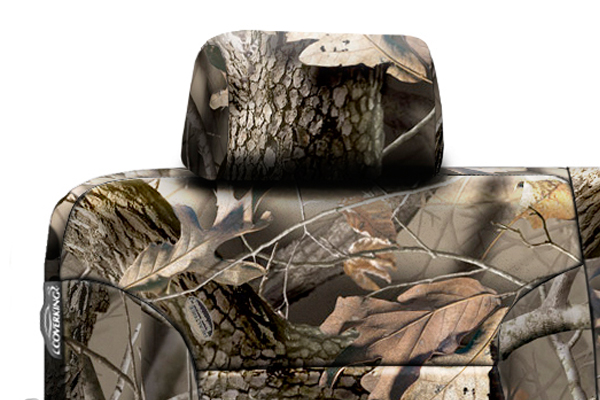coverking realtree camo neoprene seat covers headrest detail