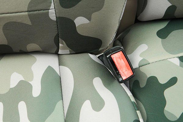 coverking traditional camo neosupreme seat covers belt buckle