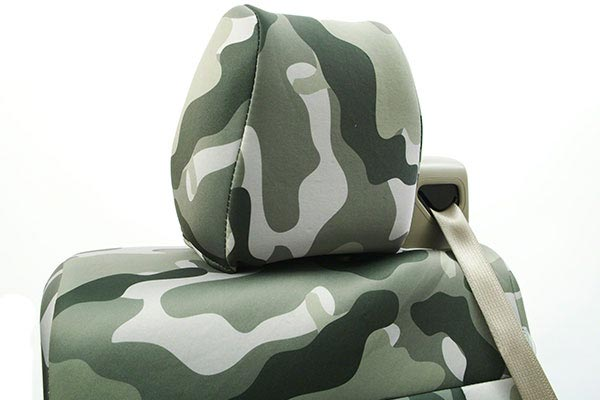 coverking traditional camo neosupreme seat covers headrest