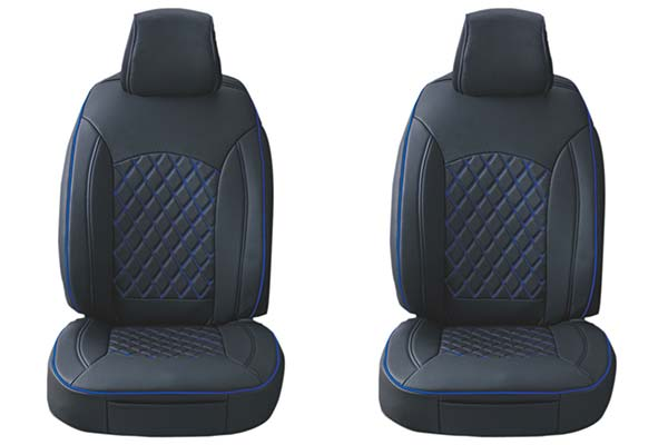 Black with Blue Stitching ProZ Premium Leatherette Seat Covers