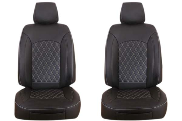 Black with Silver Stitching ProZ Premium Leatherette Seat Covers