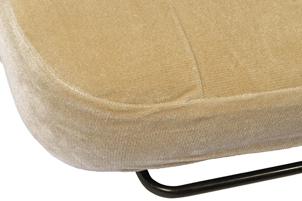 proz velour seat covers beige seat bottom detail