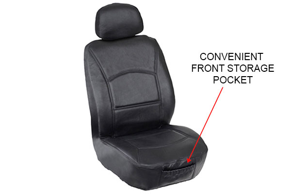 Saddleman Universal Leather Seat Covers - FREE SHIPPING