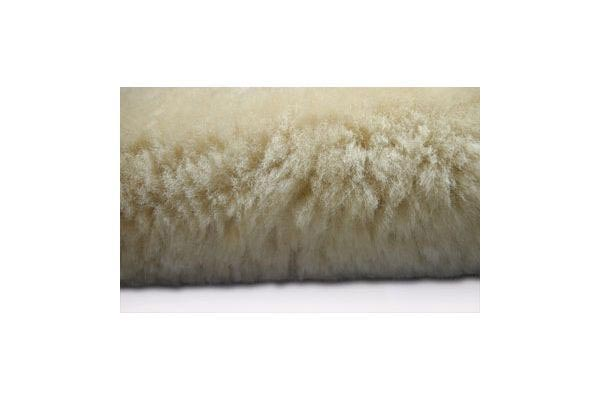 sheepskin seatbelt cover fabric closeup
