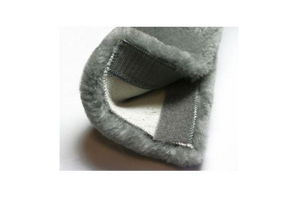 sheepskin velcro closeup