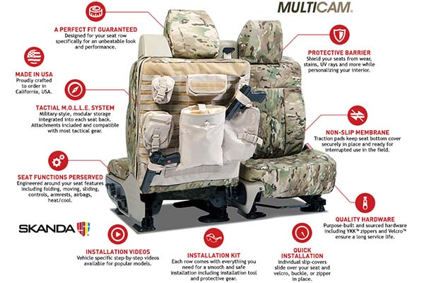 SKANDA Multi Cam Camo Seat Covers from Coverking- Tactical
