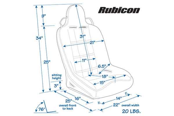 mastercraft rubicon seats dimensions