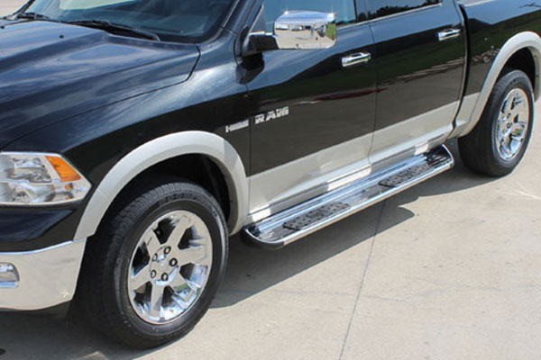 raptor series stainless steel running boards 2
