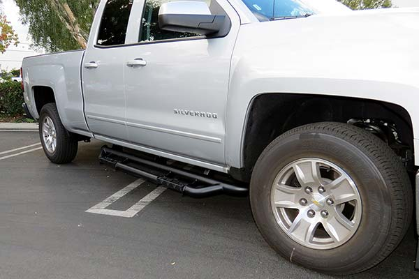 rbp rx3 black nerf bars on silver chevy silverado