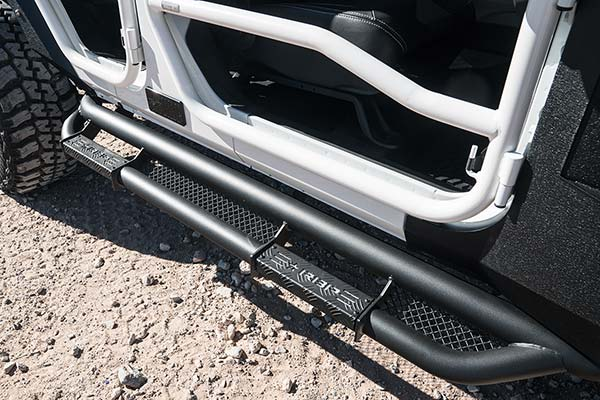 rbp rx3 black nerf bars on white jeep