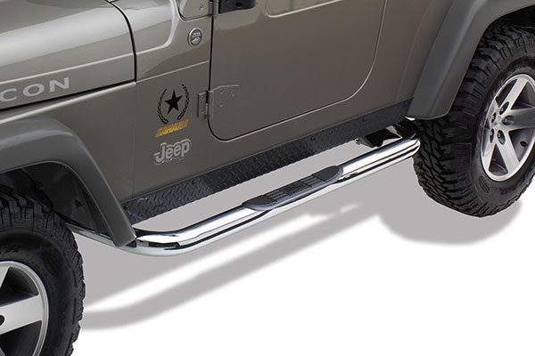 westin 3in signature series round nerf bars 25 2850 02