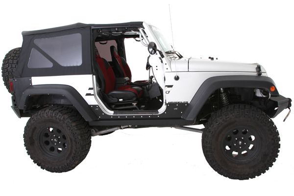 smittybilt quick release trail mirrors jeep profile